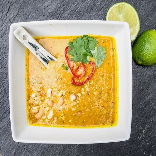 Thai Infused Butternut Squash and Coconut Soup
