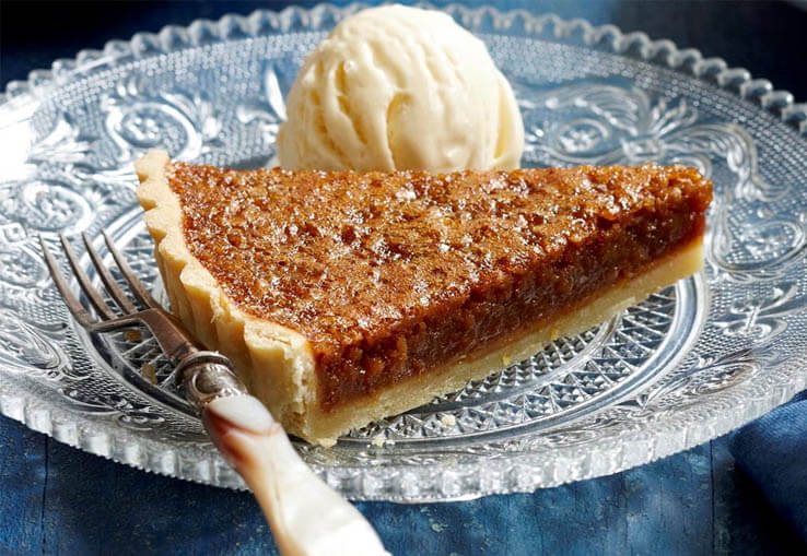Hot Cross Bun Treacle Tart
