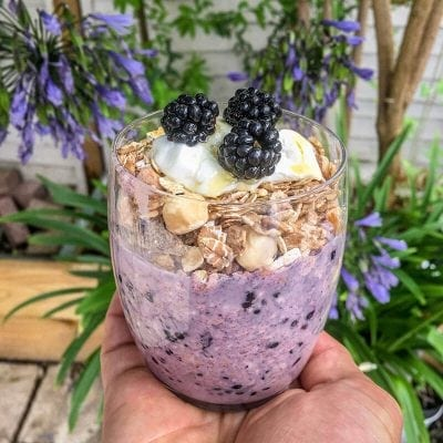 Blackberry and Apple Crumble Overnight Oats