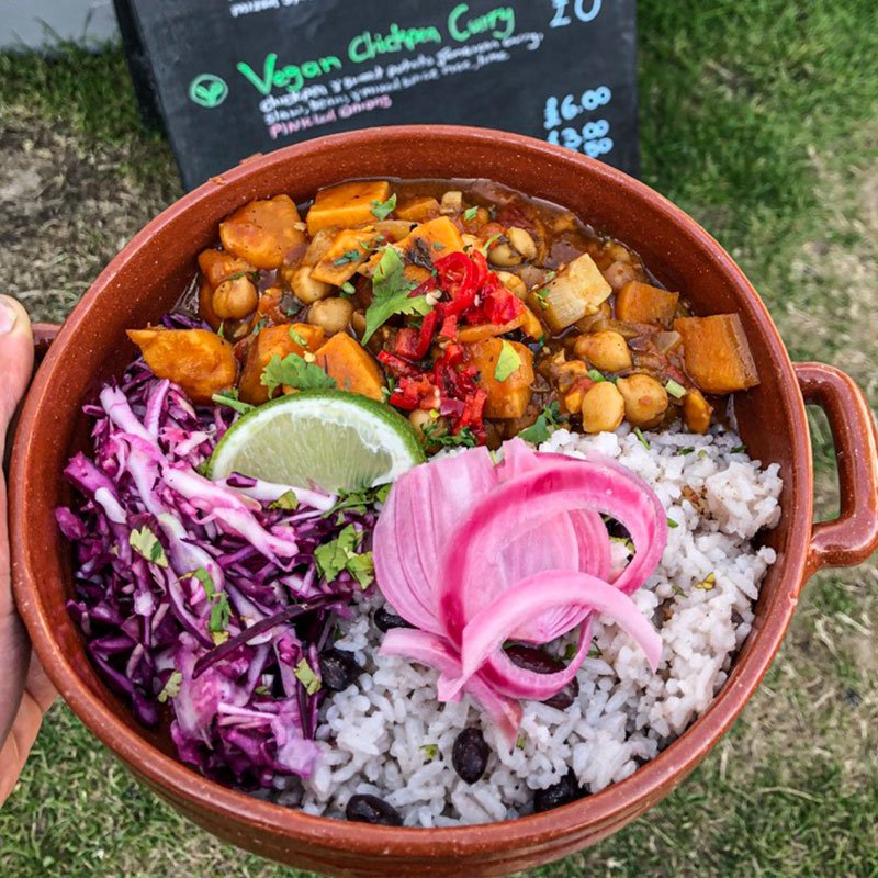 Jamaican Chickpea Sweet Potato Curry – Vegan
