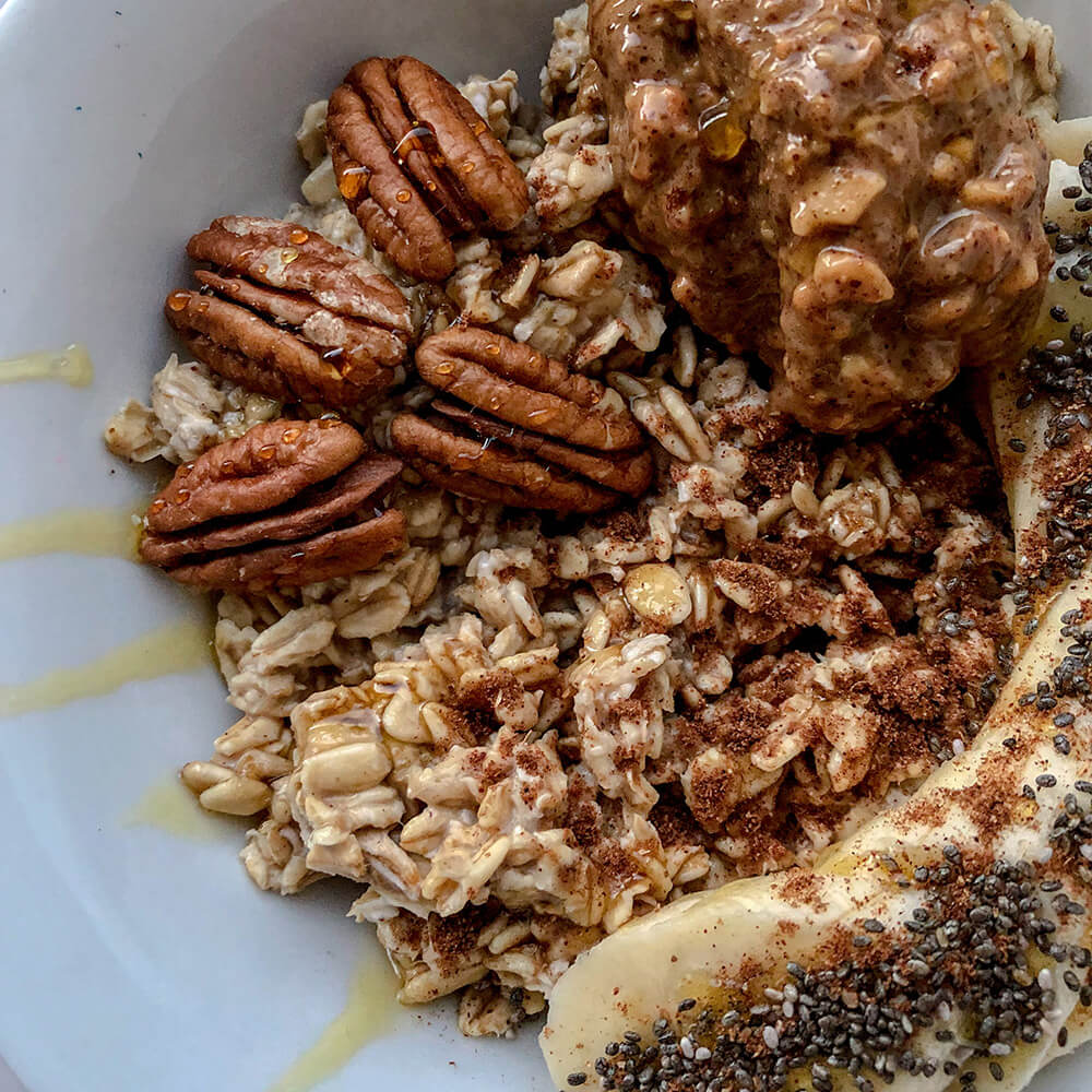 Biff's Banana Bread Overnight Oats