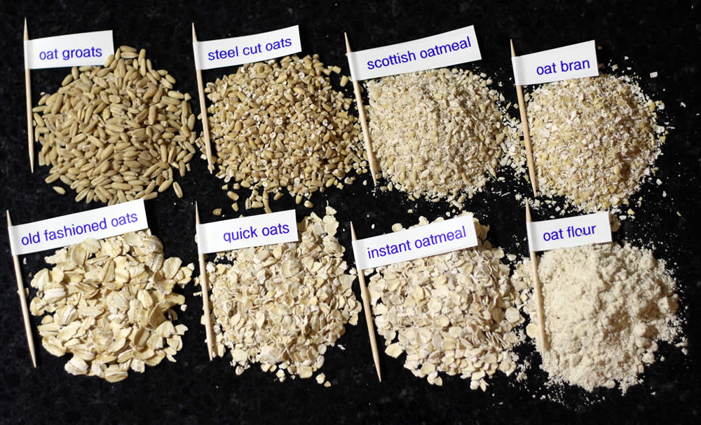 Variety oats for overnight oats