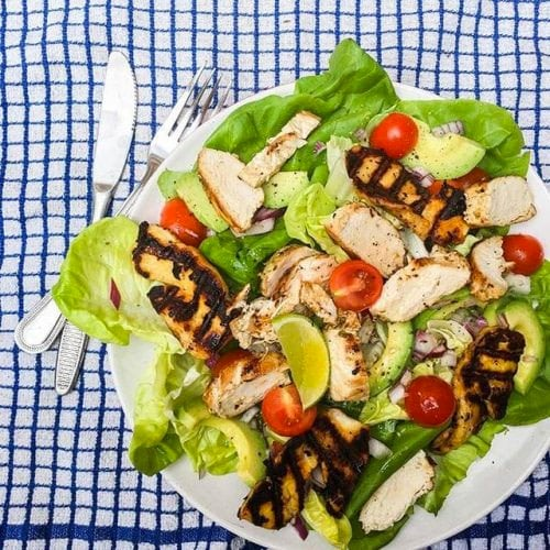 Lime Chicken and Avocado Salad