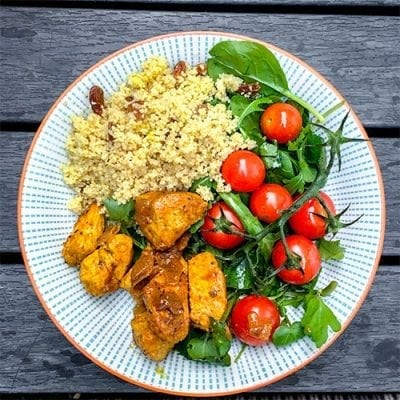 Moroccan Chicken Couscous Salad