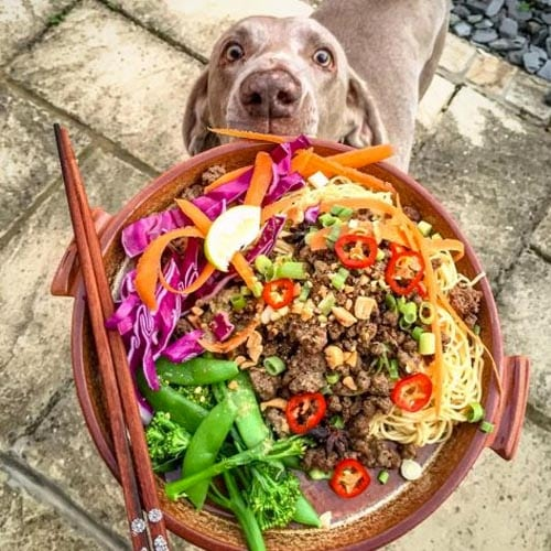 Quick Ginger Beef Noodles