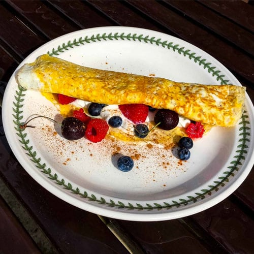 Forest Berry Sweet Omelette